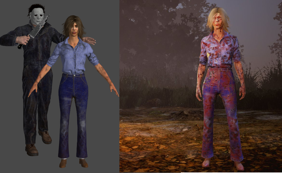 Laurie Strode from Dead by Daylight and Halloween