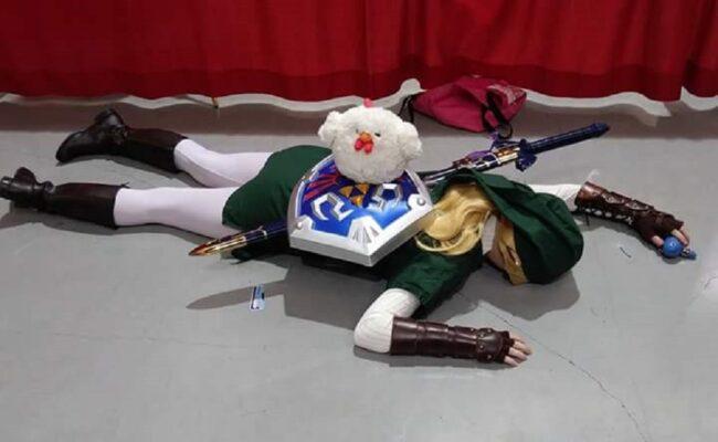 Happy Sakura as Link