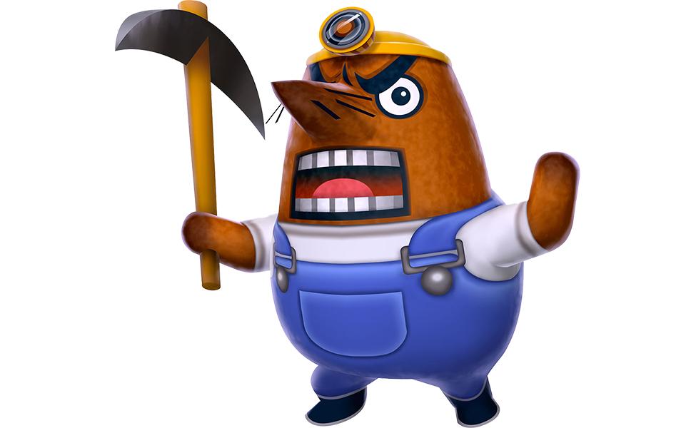 Mr. Resetti from Animal Crossing