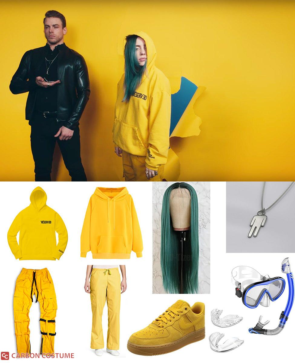 Billie Eilish Yellow Outfit from Bad Guy Cosplay Guide