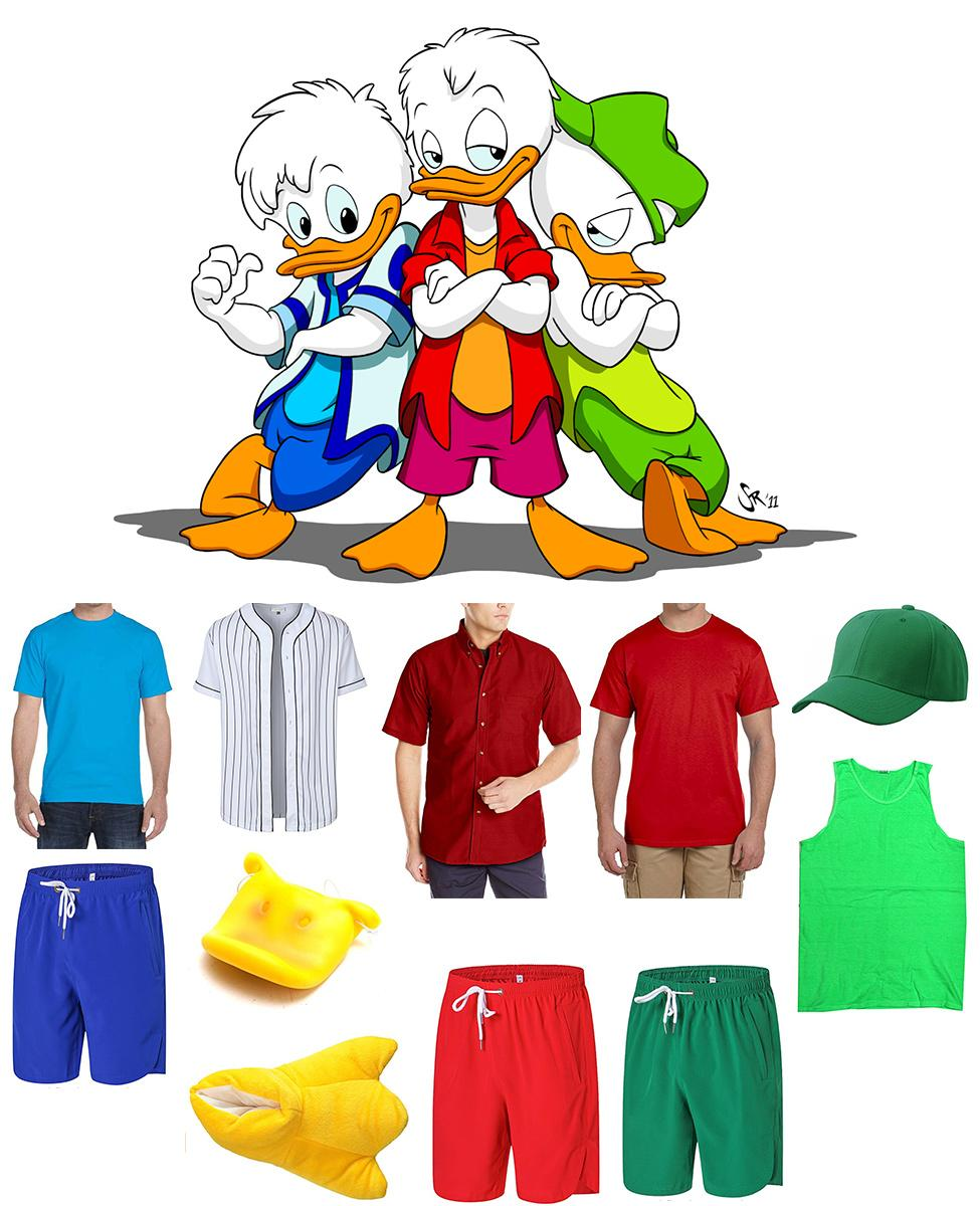 Huey, Dewey, and Louie from Quack Pack Cosplay Guide