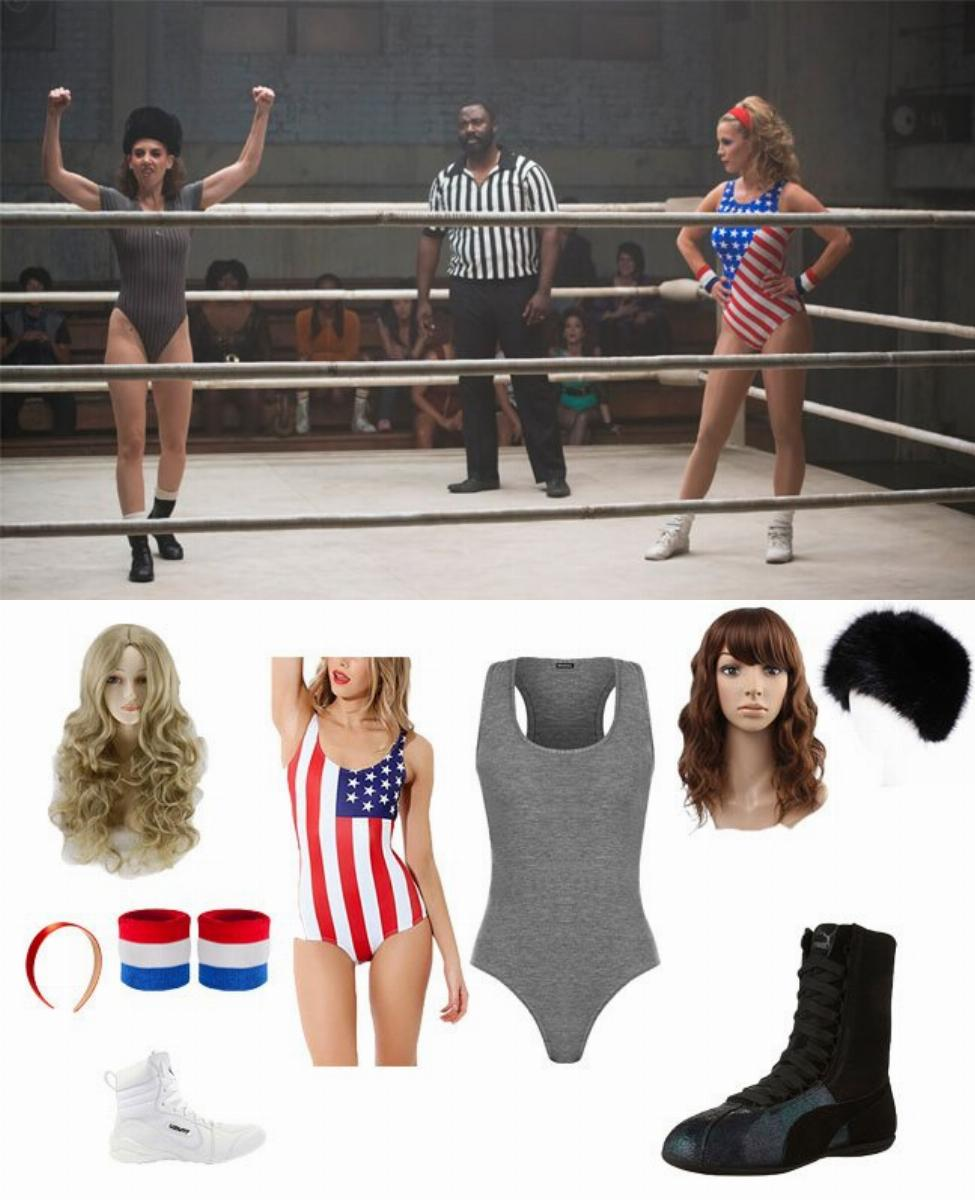 Liberty Belle and Zoya the Destroya in GLOW Cosplay Guide