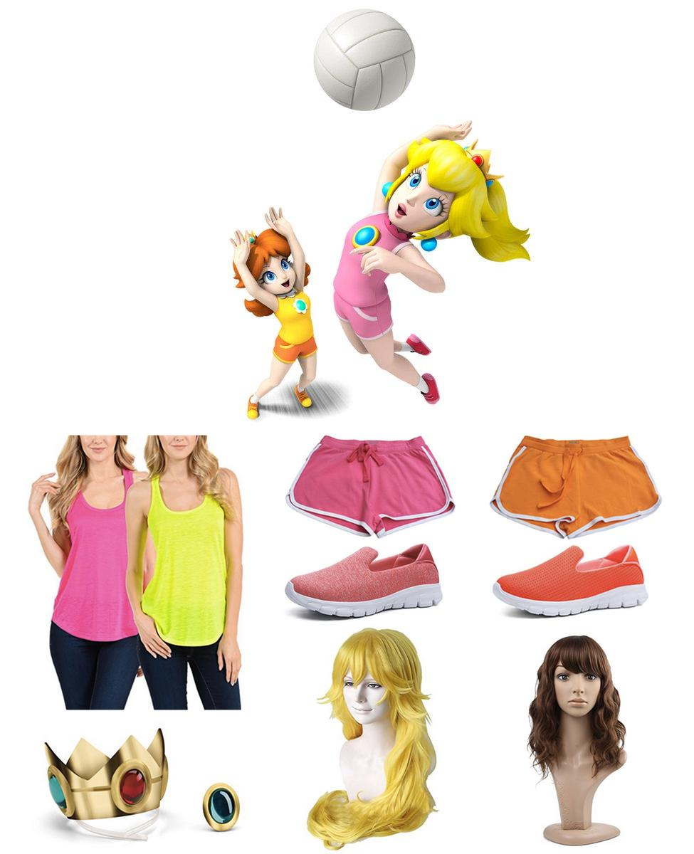 Peach and Daisy from Mario Sports Mix Cosplay Guide