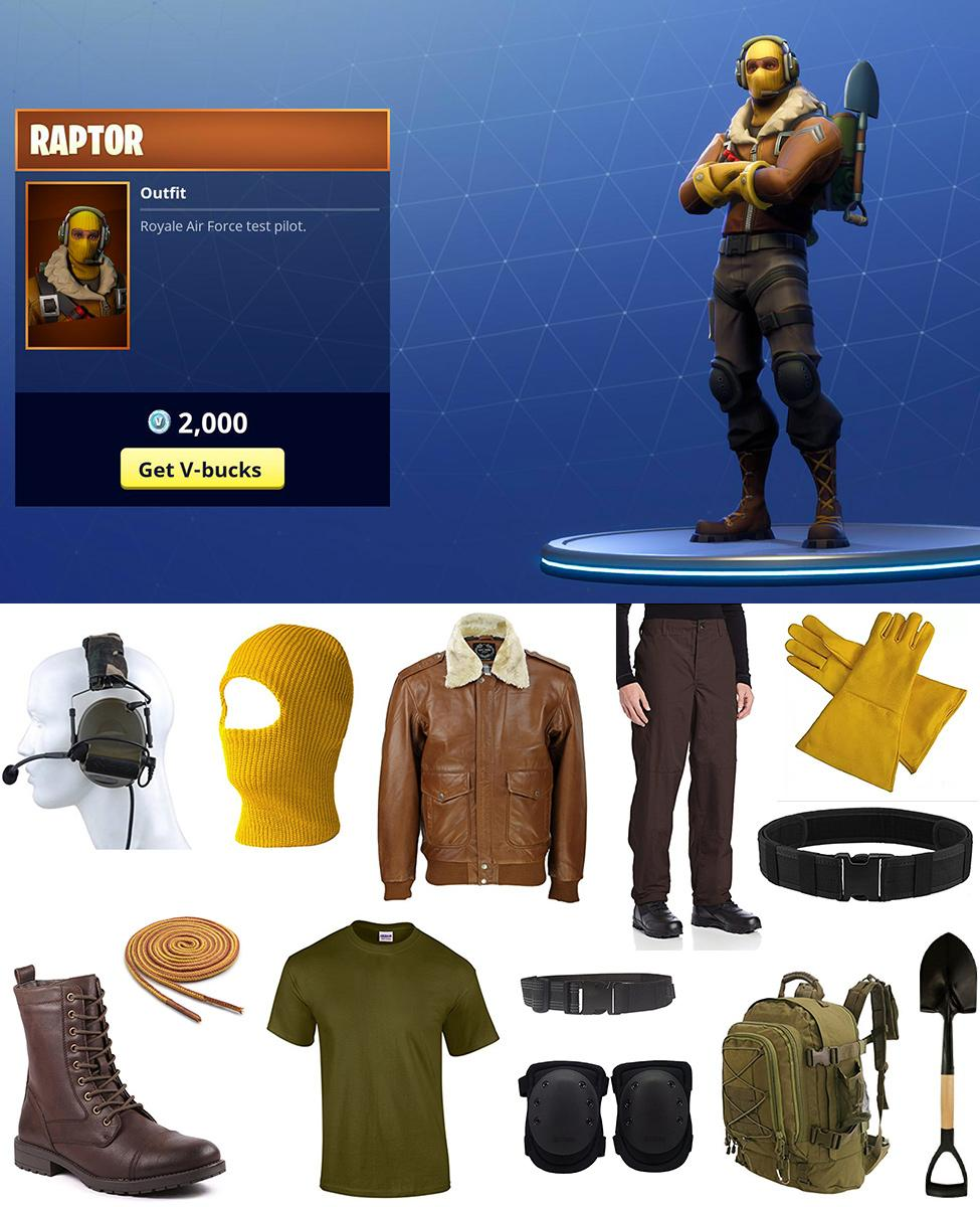 Raptor from Fortnite Cosplay Guide