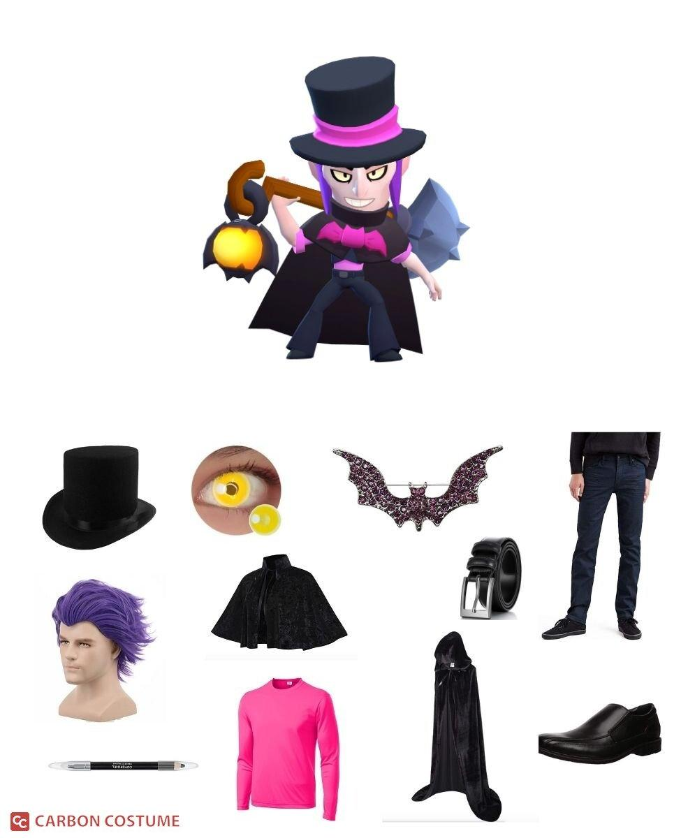 Top Hat Mortis from Brawl Stars Cosplay Guide