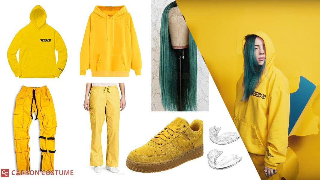 Billie Eilish Yellow Outfit from Bad Guy Cosplay Tutorial