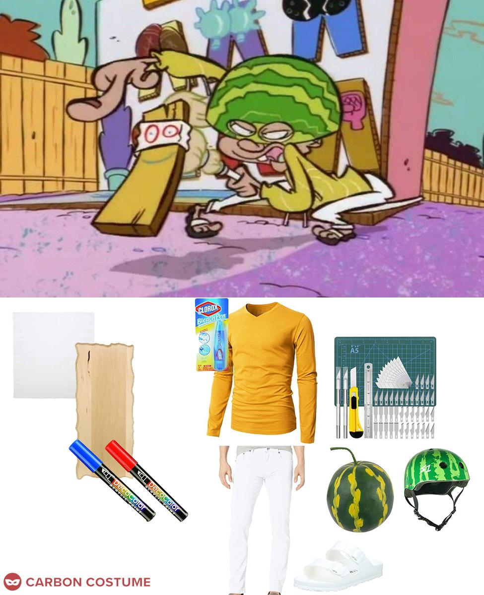 Captain Melonhead from Ed Edd and Eddy Cosplay Guide