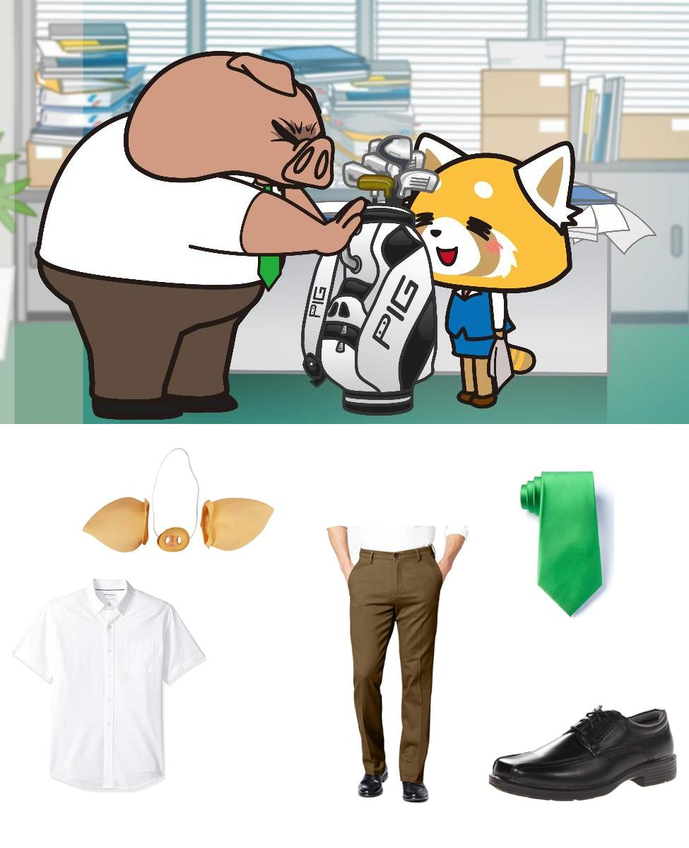 Director Ton from Aggretsuko Cosplay Guide
