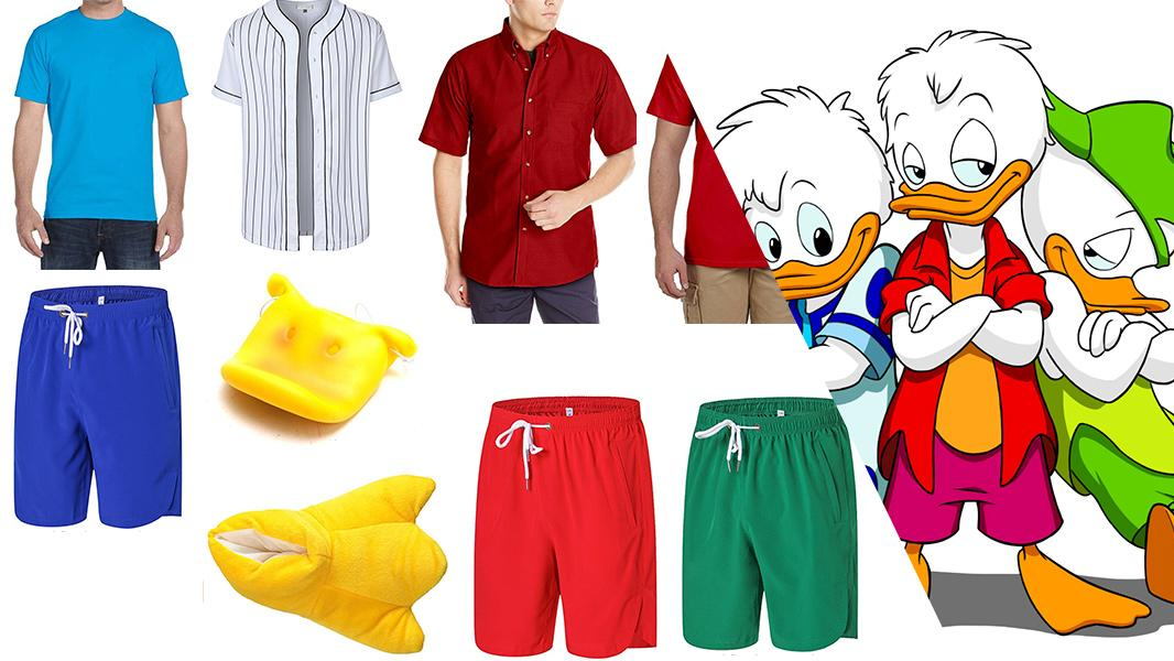 Huey, Dewey, and Louie from Quack Pack Cosplay Tutorial