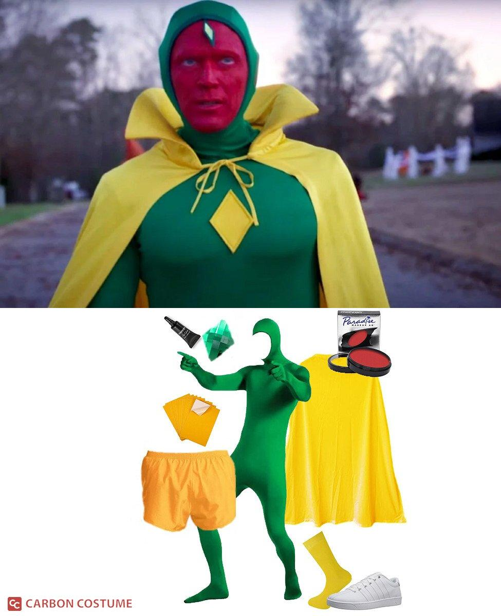 Vision's Halloween Costume from WandaVision Cosplay Guide